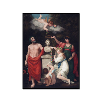 Asculapius, Flora, Ceres and Cupid honouring the Bust of Linnaeus by Robert John Thornton Artblock