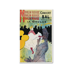 Moulin Rouge, La Goulue (Moulin Rouge-La Goulue) by Henri de Toulouse-Lautrec Artblock