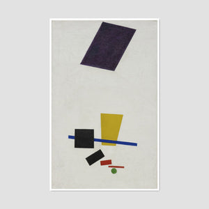 Kazimir Malevich, Painterly Realism of a Football Player - Color Masses in the 4th Dimension, Framed Art Print in white frame by 2020ArtSolutions