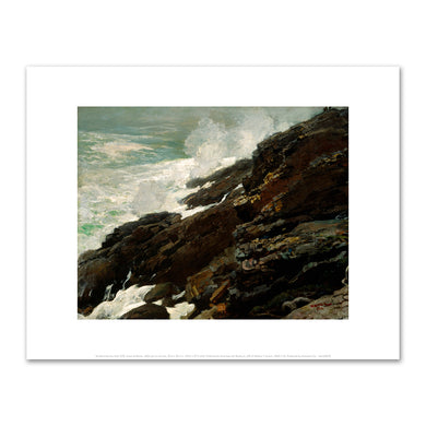 Winslow Homer, High Cliff, Coast of Maine, Fine Art Prints in various sizes by Museums.Co