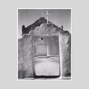 Church, Taos Pueblo by Ansel Adams Artblock