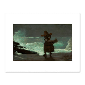 Winslow Homer, The Gale, 1883-93, Fine Art Prints in various sizes by Museums.Co