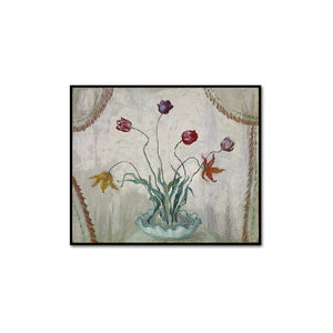 Florine Stettheimer, Bowl of Tulips, artblock in 3 sizes and 2 frame colors by 2020ArtSolutions