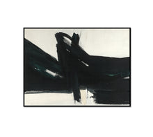 Franz Kline, Ravenna, 1961, Framed Art Print with black frame in 3 sizes by 2020ArtSolutions