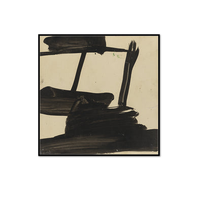 Franz Kline, Study, ca. 1957, Framed Art Print with black frame in 3 sizes by 2020ArtSolutions