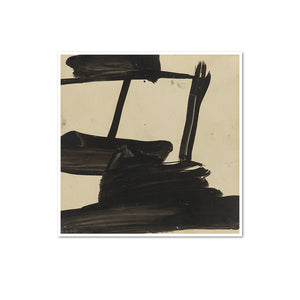 Franz Kline, Study, ca. 1957, Framed Art Print with white frame in 3 sizes by 2020ArtSolutions