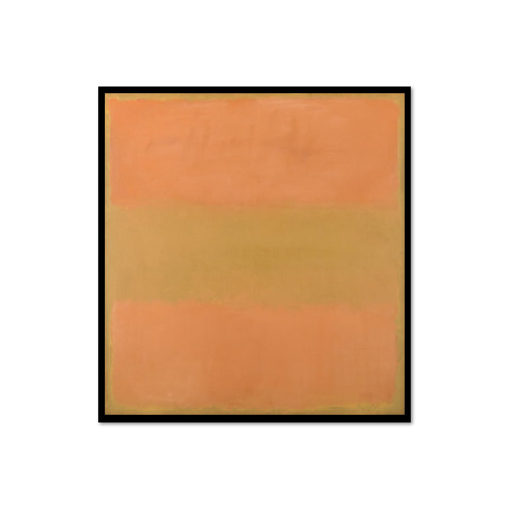 Mark Rothko, Untitled (Orange), 1957, Framed Art Print with black frame in 3 sizes by 2020ArtSolutions