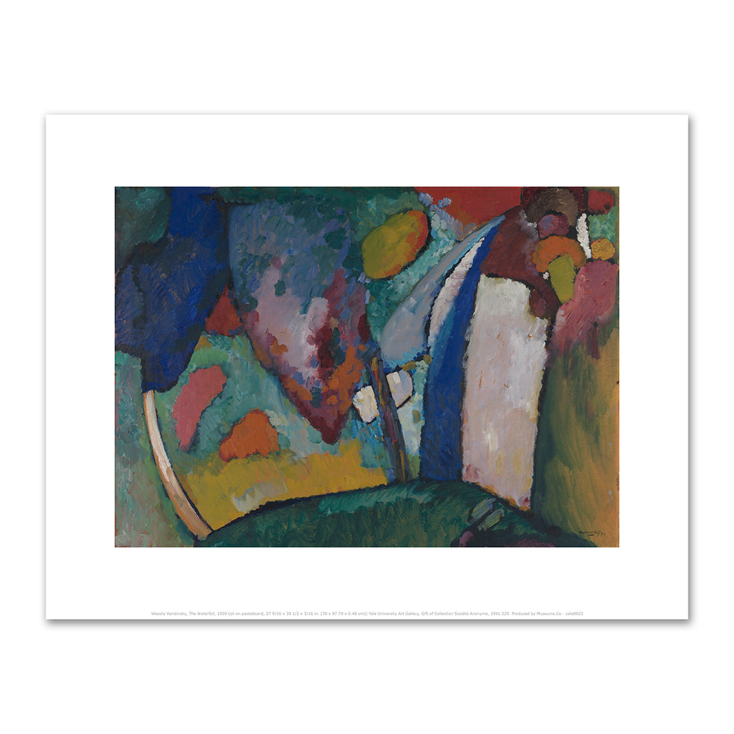 Wassily Kandinsky, The Waterfall, 1910, art prints in various sizes by 2020ArtSolutions