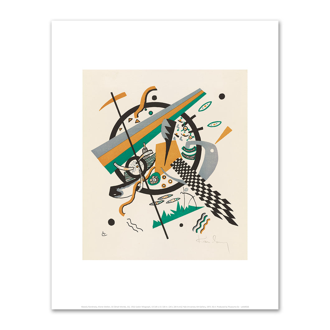 Wassily Kandinsky, Kleine Welten, IV (Small Worlds, IV), 1922, art prints in various sizes by 2020ArtSolutions