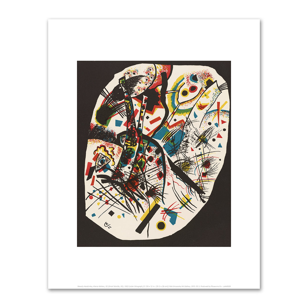 Wassily Kandinsky, Kleine Welten, III (Small Worlds, III), 1909, art prints in various sizes by 2020ArtSolutions
