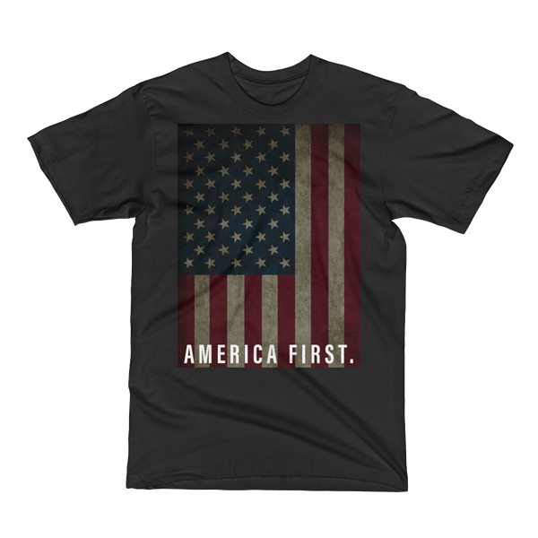 America First Flag Shirt (Black)