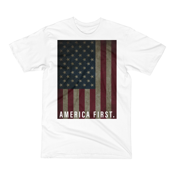 America First Flag Shirt (White)
