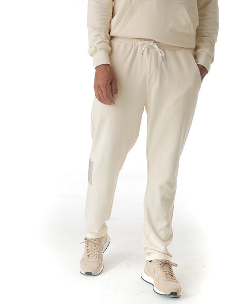 Off white straight leg tracksuit bottoms