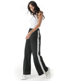 Black Cenmar high waist pattern trousers. Women's