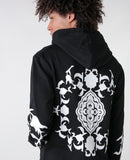 Black Cenmar floral Hoodie for Men