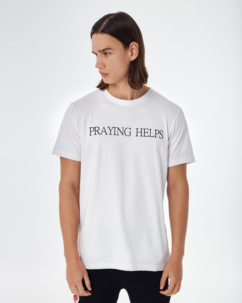 White House of Cenmar PRAYING HELPS T shirt