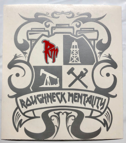 Roughneck Mentality Crest Decal