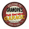 "Grandpa's Full Service Garage 14"" Round Metal Sign Man Cave Décor 100140037459"