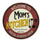 "Mom's Kitchen 14"" Round Metal Sign Bar Game Room Wall Déco 100140040002"