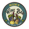 "MOM'S Wine Bar 14"" Personalized Round Green Metal Sign Wall Decor 100140043002"