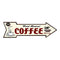 Fresh Brewed Coffee Rt Arrow Vintage Looking Metal Sign 5x17 205170002001