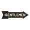 Gentlemen Black Rt Arrow Vintage Looking Metal Sign 5x17 205170003011