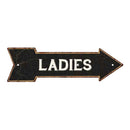 Ladies Black Rt Arrow Vintage Looking Metal Sign 5x17 205170003012