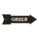 Order Black Rt Arrow Vintage Looking Metal Sign 5x17 205170003018