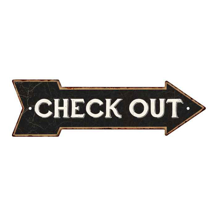 Check Out Black Rt Arrow Vintage Looking Metal Sign 5x17 205170003019
