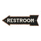 Restroom Left Arrow Vintage Looking Metal Sign 5x17 205170004018