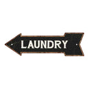 Laundry Left Arrow Vintage Looking Metal Sign 5x17 205170004022