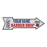 Your Name Barber Shop Rt Arrow Vintage Looking Metal Sign 5x17 205170007001