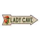 Lady Cave Metal Sign 5x17 Arrow Garden Flowers Gift Shed 205170008006