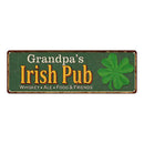 Grandpa's Irish Pub Personalized Metal Sign Bar Man Cave 6x18 106180010459