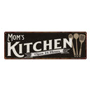 Mom's Personalized Kitchen Sign Chic Wall Decor Gift Mom 6x18 106180014002