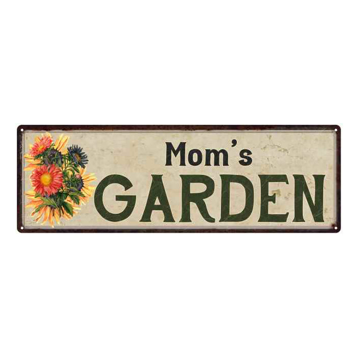 Mom's Garden Personalized Flower Chic Decor 6x18 Sign Gift 106180017002