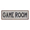 Game Room Vintage Look Reproduction Black on White 8x24 Metal Sign 106180023002