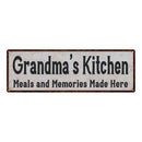 Grandma's Kitchen Vintage Reproduction Black White 8x24 Metal Sign 106180023024
