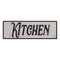 Kitchen Script Vintage Reproduction Black White 8x24 Metal Sign 106180023048