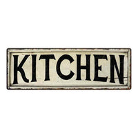 Kitchen City Sky Line Silouette Chic Wall Décor 8x24 Metal Sign 106180028048