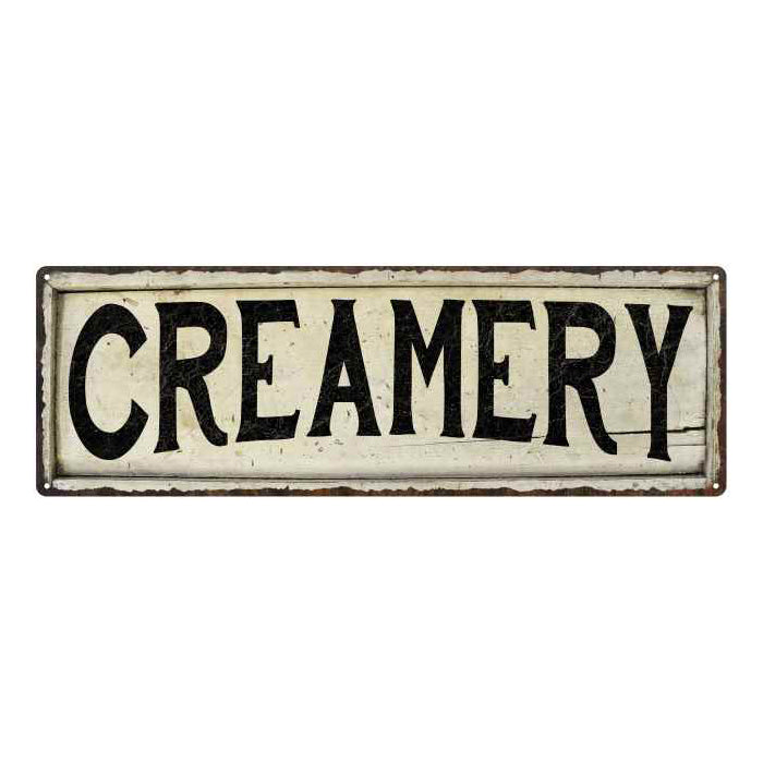 Creamery Chic Vintage Look Farm House Wall Décor 8x24 Metal Sign 106180028058
