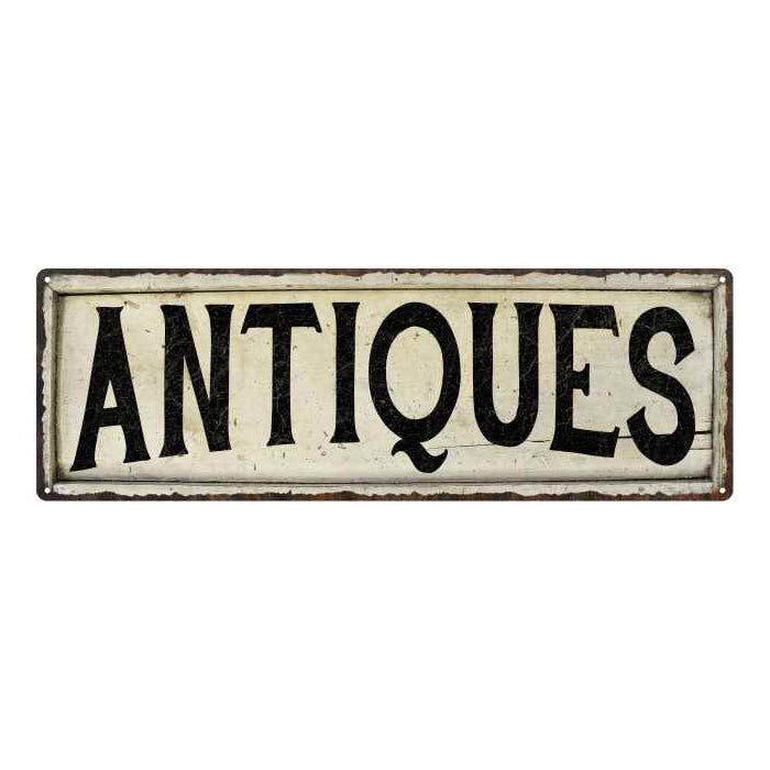 Antiques Chic Vintage Look Farm House Wall Décor 8x24 Metal Sign 106180028071
