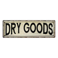 Dry Goods Chic Vintage Look Farm House Wall Décor 8x24 Metal Sign 106180028075