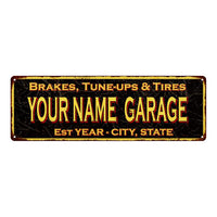 Your Name Garage Vintage Reproduction Metal Sign 6x18 106180032002