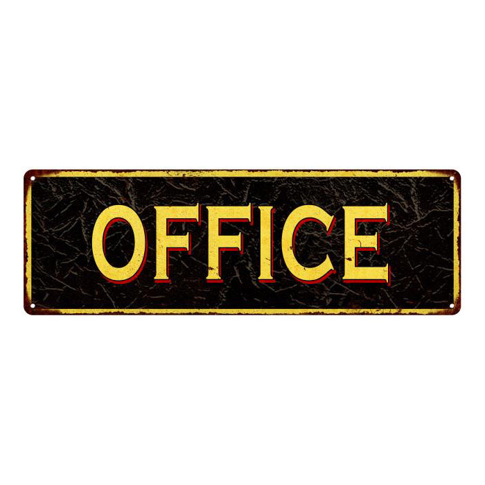 OFFICE Vintage Looking Metal Sign Home Decor 6x18 106180032013