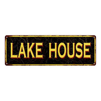 LAKE HOUSE Vintage Looking Metal Sign Home Decor 6x18 106180032017