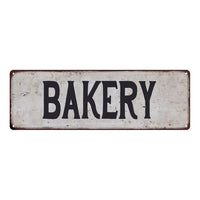 BAKERY Vintage Look Rustic 6x18 Metal Sign Chic Retro 106180035006