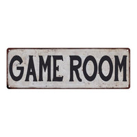 GAME ROOM Vintage Look Rustic 6x18 Metal Sign Chic Retro 106180035052