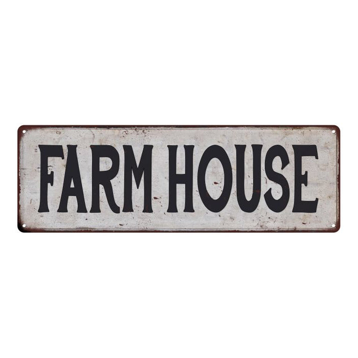 FARM HOUSE Vintage Look Rustic 6x18 Metal Sign Chic Retro 106180035075