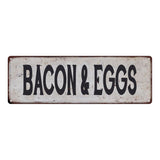 BACON & EGGS Vintage Look Rustic 6x18 Metal Sign Chic Retro 106180035102